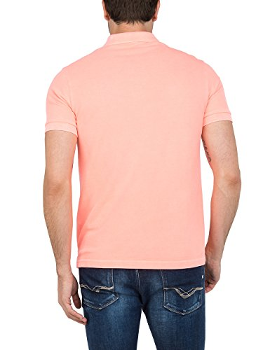 Replay Herren Poloshirt Rot (Coral FLUO 153)