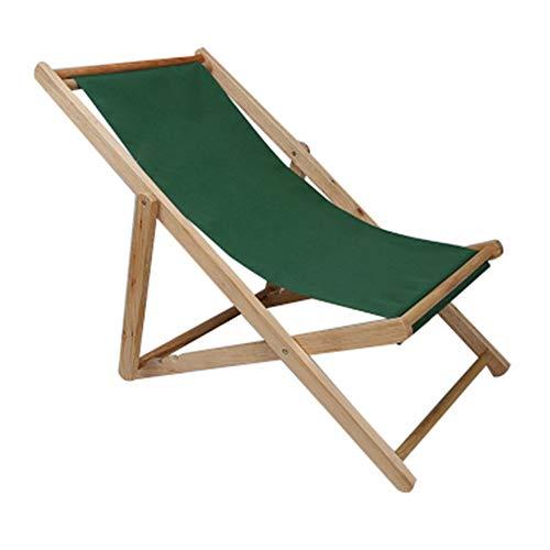 GJFeng Outdoor Beach Chair Klappbares Massivholz Oxford Leinwand Stuhl Lehnstuhl Tragbare Mittagspause Holz Liegestuhl (Farbe : 4)