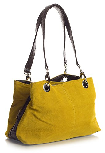 Big Handbag Shop - Borse a spalla donna (Senape - marrone) Comprar Barato Escoger Un Mejor Buscando Comprar Barato Explorar J4joD