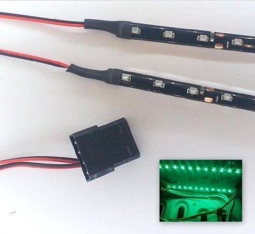top-led-guirnalda-de-luces-para-ordenador-18-ledes-2-guirnaldas-de-30-cm-verde-bright-green-40cm