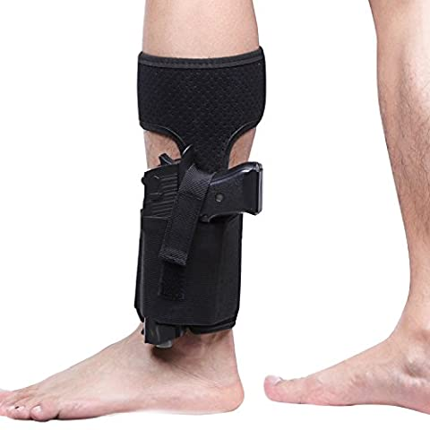 LIVEBOX Ankle Holster for Concealed Carry | Breathable | Neoprence | Non-Slip with Calf Strap Gun Holster for Women Men Glock 42, 43, 36, 26, Smith and Wesson Bodyguard .380, .38, Ruger LCP,