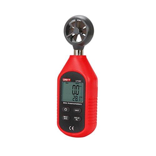 UNI-T UT363 Mini-Anemometer Windgeschwindigkeit Temperatur-Prüfvorrichtung LCD-Anzeige Luftströmungsmessung Wind Stufe 1-12 Topker