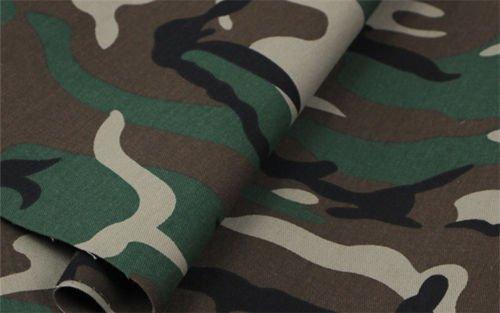 Grün Armee Camo Camouflage Stoff–Vorhang Polster 140cm (Meterware) (Streifen-polster-vorhänge-stoff)