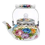 Bouilloire émaillée for Cuisinière électrique Motif Fleur écologique Pot accueil Artistes, 2.5L coffee pot