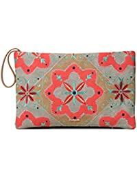 Desigual - Bag Mary Jackson Macau Women, Carteras de mano Mujer, Naranja (Coral