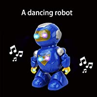 EARSOON Intelligent & Charismatic Dancing Remote Control Robot with Music and Lights for Children, Disco & Cheering RC Robot , Flasing Eyes and Chest