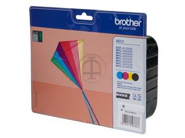 Original Brother LC223 /, 4x Premium Drucker-Patrone, Schwarz, Cyan, Magenta, Gelb, 550 Seiten