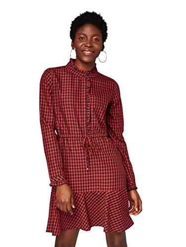 TOM TAILOR Denim für Frauen Kleider & Jumpsuits Kleid mit Karomuster Red Blue Check, S
