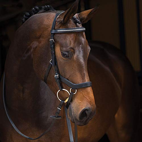 Horseware Rambo Micklem Diamante Competition Bridle Trense Black (Large Horse)