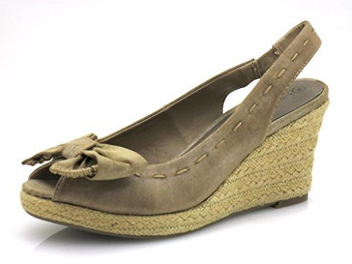 Laura Lenti Espandrilles Sandalette Damenschuhe Beige