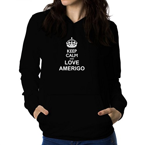 Felpe con cappuccio da donna Keep calm and love Amerigo