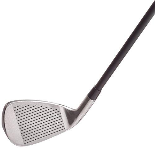 Wilson WGG157551 Ensemble Complet pour Débutant, 10 Clubs de Golf avec Sac Trépied, pour Homme (Main Droite), Stretch XL, Noir/Gris/Rouge
