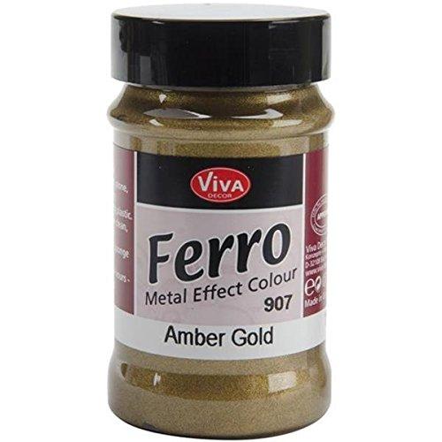Viva Decor Ferro Metall Effekt-Strukturlack 3oz-Amber Gold, Anderen, Mehrfarbig