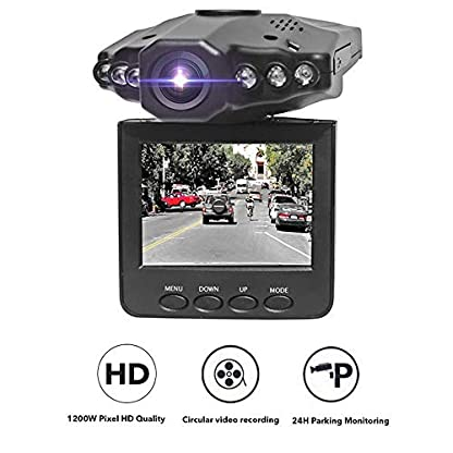 JuneJour-Dashcam-Autokamera-1080P-Rckspiegel-Monitor-mit-Rckfahrkamera-Lens-Touchscreen-140-Weitwinkel-Nachtsicht-Auto-Camea-G-Sensor-Daueraufnahme-fr-Taxi-25-Zoll