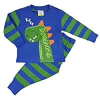 Kids Essentials Boys Toddler Pyjamas Dinosaur Tractors Diggers Dumpers