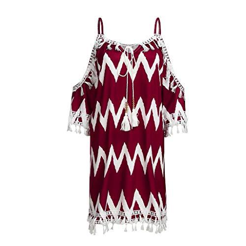 XuxMim Kleider Damen Blumen Kleid Elegant Langarm Maxikleid Floral Print Böhmischen Strand Maxi Kleid - Red Toga Kostüm