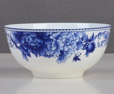 Phalaenopsis en céramique Bol à soupe Bol en porcelaine Bleu et (Servizio Burner)