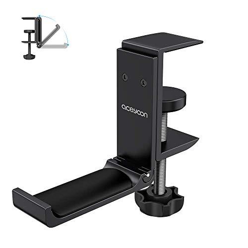 aceyoon Headset Stand, Porte Casque en Aluminium et Silicone Pose Casque Gaming sous Bureau avec Pince Réglable Support Casque Multifonction pour Casque Bluetooth, Gaming ps4, Audio, Gamer