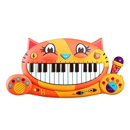 B toys � Meowsic Toy Piano � Children�s Keyboard Cat Piano with Toy Microphone for Kids 2 years +