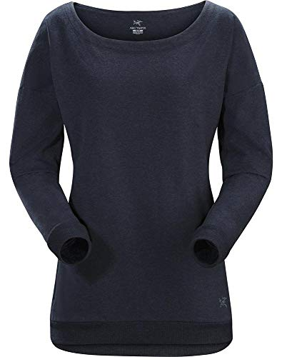 Arc'teryx Damen Mini-Bird Sweatshirt Women's Blau (Navy Heather), M Mini Womens Sweatshirt