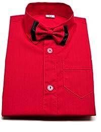Smart Boy - Chemise - Col Chemise Classique - Garçon Rouge Rouge