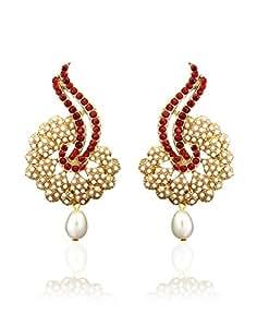 Zaveri Pearls Traditonal Pearls Earring for Women-ZPFK278