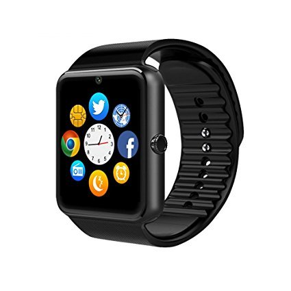 Smart Watch, chromiumfit GT08 Touchscreen Bluetooth Armbanduhr mit Kamera/SIM Card Slot/Schrittzähler Analyse/Sleep Überwachung Samsung Galaxy S5/S6/S6plus/S7/S7 Edge/S8/s8plus HTC Sony und andere Android (Full Funktionen) und iOS iPhone 5/5S/6/Plus/7/7plus/8/8PLUS (Teil-Funktionen) (Lg Video Call Kamera)