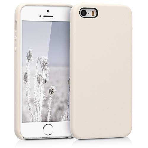 kwmobile Apple iPhone SE / 5 / 5S Hülle - Handyhülle für Apple iPhone SE / 5 / 5S - Handy Case in Creme