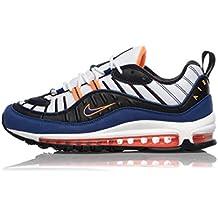 Nike Air Max 98 CD1536-100 White Deep Royal Blue Total Orange 21135e9c1f4