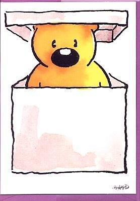 Niedliche Geburtstagskarte Bärchen Überraschung