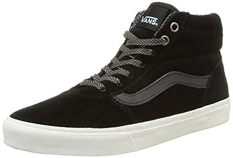Vans W Milton Hi Mte, Damen Sneakers, Schwarz (mte/black/blanc De