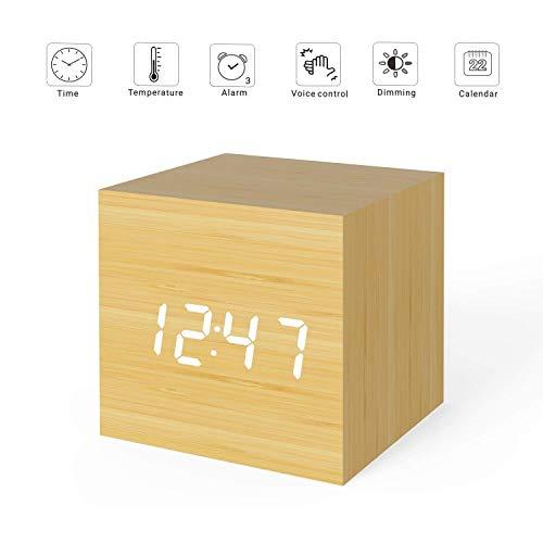 Micar Reloj Despertador Digital de Madera