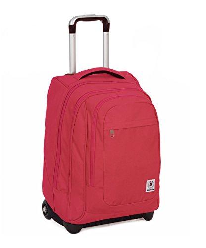 Trolley invicta - bump - rosa - 45 lt spallacci a scomparsa! uso zaino scuola e viaggio