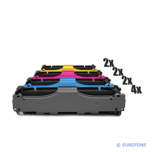 10x Müller Printware Remanufactured Toner für HP Color Laserjet Pro MFP M 476 dw nw DN ersetzt CF380X-83A 312A 312X