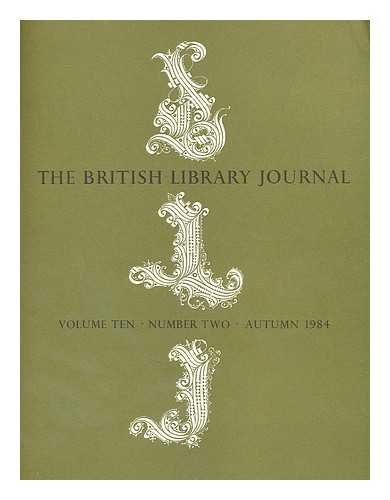 The British Library Journal, Volume Ten, Number Two, Autumn 1984