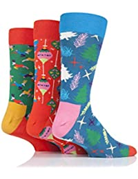 Happy Socks Singing Retro Holiday Gift Box Socks Pack of 3