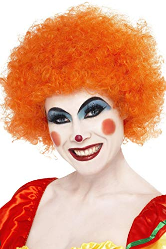 Smiffys Unisex Verrückter Clown Perücke, One Size, Orange, 42085