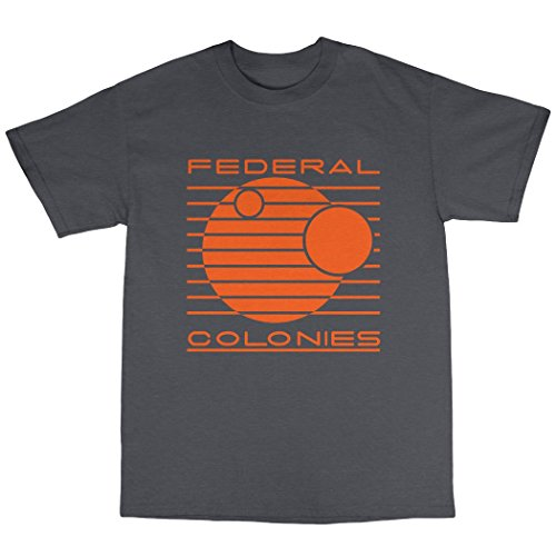 Federal Colonies Total Recall Inspired T-Shirt 100% Baumwolle Kohle
