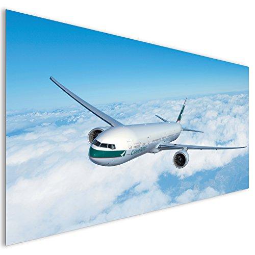 blanc-cathay-pacific-contemporain-avion-en-aluminium-decoration-murale-en-metal-xl
