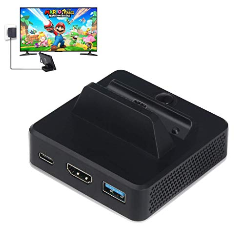 Nintendo Switch HDMI Adapter, Komost USB C Ladestation, Video Konverter mit USB 3.0 Port, HDMI Video Port, Typ C Power Port für Nintendo Switch