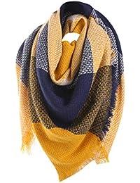 WUDUBE Laine Châle Cachemire Plaid cou écharpe, hiver chaud femme coloré ... 30278248810
