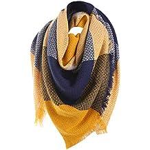 035c7a531e10 WUDUBE Laine Châle Cachemire Plaid cou écharpe, hiver chaud femme coloré ...