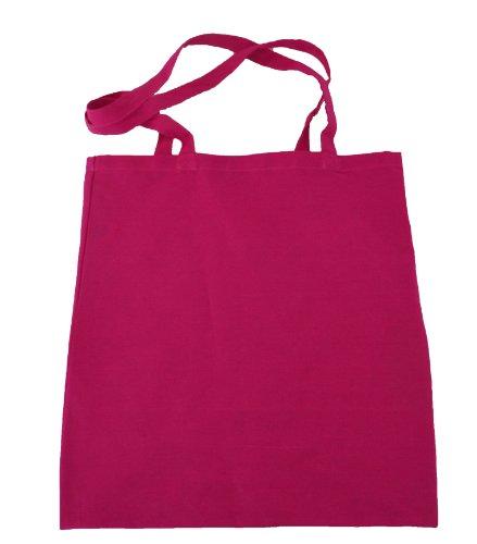 Tote Einkaufstasche aus Baumwolle, 3 Farben, niedriger Preis Rosa - Cerise Pink