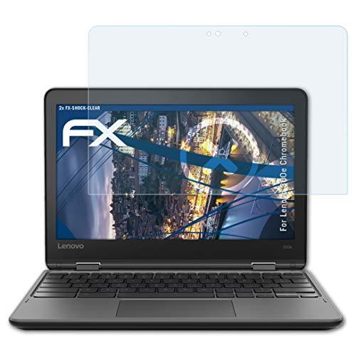 atFoliX Anti-Choc Film Protecteur Compatible avec Lenovo 300e Chromebook Film Protecteur, Ultra Clair et Absorbant Les Chocs FX Protecteur d'écran (2X)