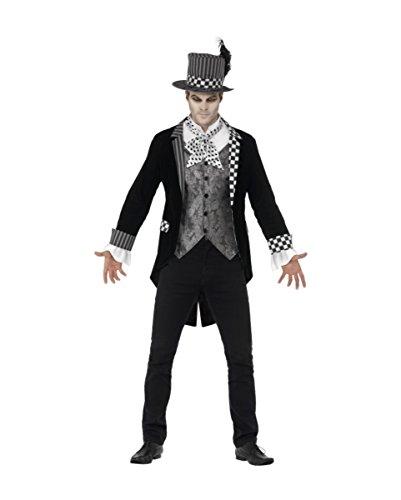 Kostüme Hatter Dark (Dark Hatter Halloween Kostüm Deluxe)
