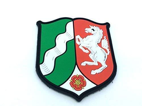 Patch Nation Nordrhein-Westfalen Wappen Deutsch Kamm PVC Klett Emblem Abzeichen Wappen-patches