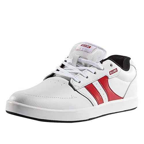 Globe Mens Octave Skateboard Shoes Bianco (bianco / Nero / Rosso)