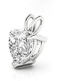 Ananth Jewels 925 Silver BIS Hallmarked Heart Shaped Crystals from Swarovski Pendant with Chain for Women 9MM