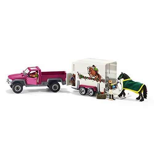 """Preisvergleich Produktbild Schleich 42346 """"Pick up mit Pferdeanhänger"""" Spielzeug"""