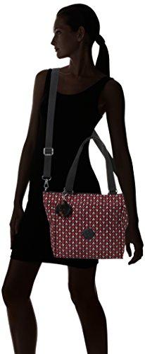 Kipling - New Shopper S, Borse Tote Donna Multicolore (Pink Chevron)